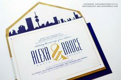 Lexi & Bruce's City Wedding - Canvas Stationery Boutique