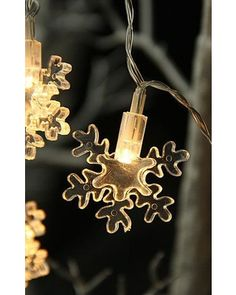 BOC%20Select Battery Operated LED Snowflake String Lights - 6.5 Feet - BOC Select from Battery Operated Candles | BHG.com Shop