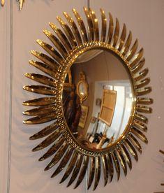 Starshine mirror Sun mirror Sunshine mirror Hollywood regency Gold mirror Golden mirror Round mirror Entryway mirror Living room mirror