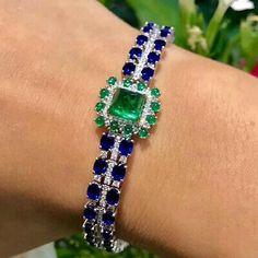 Emerald Bracelet, Emerald Jewelry, Diamond Bracelets, Gemstone Jewelry, Turquoise Bracelet, Gold Bracelet For Women, Bracelet Designs, Luxury Jewelry, Fine Jewelry