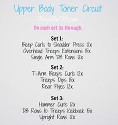 Upper Body by Bess Be Fit