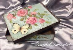 Caixa - arte com decoupage -Rachel Simonini