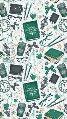 super ideas for book background wallpapers iphone wallpaper harry potter Trendy Wallpaper, Galaxy Wallpaper, Wallpaper Backgrounds, Iphone Wallpaper Books, Wall Wallpaper, Kate Spade Wallpaper, Green Backgrounds, Iphone Backgrounds, Green Wallpaper Phone
