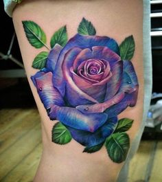 Rose Tattoo von Ana im Holy Grail Tattoo Studio - Rose Tattoo von Ana im Holy G. - Rose Tattoo von Ana im Holy Grail Tattoo Studio – Rose Tattoo von Ana im Holy Grail Tattoo Studi - Colorful Rose Tattoos, Coloured Rose Tattoo, Purple Rose Tattoos, Beautiful Flower Tattoos, Rose Tattoo Cover Up, Rose Drawing Tattoo, Watercolor Rose Tattoos, Flower Cover Up Tattoos, Butterfly Tattoos