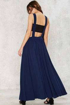 Nasty Gal Stay Overall Maxi Dress - Clothes | Nasty Gal Collection | Summer Nights | Best Sellers | Day | Midi + Maxi | Dresses