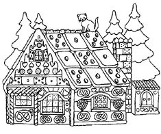 Christmas House Coloring Pages Free Online Printable Sheets For Kids Get The Latest Images Favorite