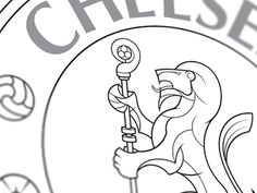"""Chelsea FC Crest, by Oliver Brant: """"Thought I'd have a bash at the Chelsea crest - During my research I found so many examples of heraldic lions, but most of them seem to look more like bears, and not very fearsome. Blue Bloods, Chelsea Fc, Lions, Bears, Typography, Symbols, Funny, Prints, Letterpress"""