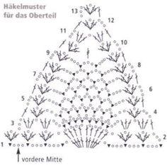 Swimsuit Crochet 2017 Scheme (Crochet) - Magazine Inspiration of the Needlework Motif Bikini Crochet, Bikinis Crochet, Crochet Bra, Crochet Lace Edging, Crochet Triangle, Crochet Chart, Crochet Clothes, Crochet Lingerie, Mode Du Bikini