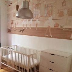 Little Hands Wallpaper Mural - Ballet Class Little Hands Wallpaper, Ballet Class, Cribs, Kids Room, Nursery, Bedroom Wallpaper, Furniture, Home Decor, Boys