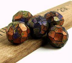 Handmade Rustic Polymer Clay Beads Metallic by BeadsByEarthTones