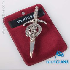 MacQueen Clan Crest Kilt Pin. Free worldwide shipping available