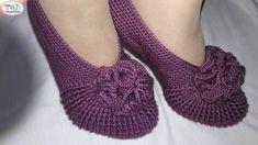 Karanfilli yeni patik modeli - YouTube Posture Correction Exercises, Posture Stretches, Crochet Shoes, Crochet Slippers, Knit Crochet, Posture Collar, Knitting Patterns, Crochet Patterns, Youtube Design