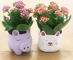 With climate change in mind we want to encourage you to use leftover household items to make recycled crafts with this Recycled Bottle Plant Pot. Reuse Plastic Bottles, Plastic Bottle Crafts, Recycled Bottles, Bottle Garden, Diy Bottle, Bottle Plant, Recycled Crafts, Diy And Crafts, Crafts For Kids