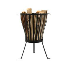 fire pot Fire Basket, Fire Pots, Prefab, Yard Landscaping, Garden Inspiration, My Dream Home, Magazine Rack, Home Accessories, Beautiful Homes