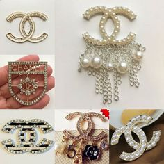 I'm so in love with our brooches! Stack em up or wear them solo for a chic look! Which ones do you want to add to your jewelry box? Chanel Jewelry, Jewelry Box, Jewelery, Wedding Accessories, Fashion Accessories, Chanel Brooch, Chanel Fashion, Chanel Style, Bead Embroidery Jewelry
