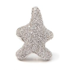 Starfish Ring ❤ liked on Polyvore