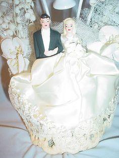 Vintage 1940s-1950s Large Ornate Wedding Cake Topper | eBay