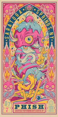 new year poster design It has almost been a year and a half since we last published an inspiration post just featuring awesome gig poster art. So its definitely about time that we put up a new one! I absolutely love to Phish Posters, Rock Posters, Band Posters, Concert Posters, Gig Poster, Poster Prints, Retro Posters, Festival Posters, Music Posters
