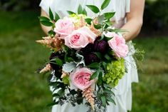 Romantic Bouquet | HGTV >> http://www.hgtv.com/design-blog/how-to/3-diy-bridal-bouquets-you-can-actually-make-yourself?soc=pinterest