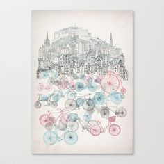 Old+Town+Bikes+Stretched+Canvas+by+David+Fleck+-+$85.00