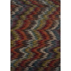 This striking modern ikat design area rug offers a bold yet warm palette of colors that will make a statement in your home's decor. Machine-woven of 100-percent polypropylene fibers this area rug will offer durable comfort for years to come.