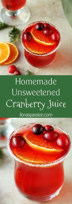 Homemade Unsweetened Cranberry Juice - 100% pure homemade unsweetened cranberry juice recipe that you can make easily at home. Only 1 ingredient to make refreshing and no sugar cranberry juice by ilonaspassion.com I @ilonaspassion