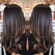 63 Ideas hair color ombre summer brunettes - All For Hair Color Balayage Hair Color Highlights, Ombre Hair Color, Carmel Highlights, Brunette Highlights, Balayage Hair Blonde, Brunette Hair, Summer Brunette, Soft Balayage, Balayage Hair Caramel