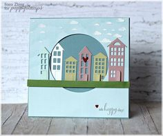 Poppy Stamps—New home card