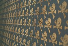 Beware the Moon - Skulls Wallpaper - Bronze on Oil Slick - View All - Wallpaper & Decor Skull Wallpaper, Wallpaper Decor, Kids Wallpaper, Black Wallpaper, Rockett St George, Skull Fashion, Skull And Bones, Design Elements, Bronze