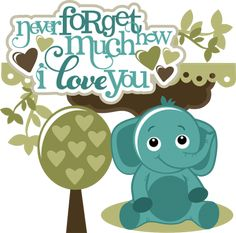 Слон SVG слон клипарт мило темам милый слон клипарт SVG файлы