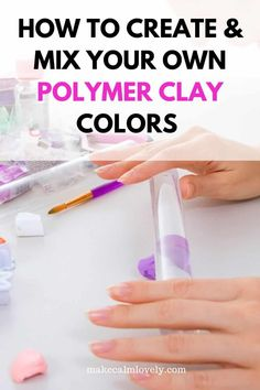 How to create and mix your own polymer clay colors Recipe Sheets, Creativity Exercises, Coloring Tips, Find Color, Beautiful Color Combinations, Fimo Clay, Diy Craft Projects, Color Mixing, Create Yourself