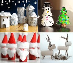 I've just published my round-up of Christmas Crafts For Kids - hop on over to http://mollymoo.ie/2012/12/christmas-crafts-for-kids/ for all the photos and links.
