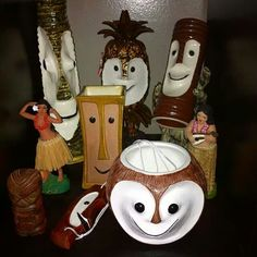 Tiki extended family- would look cute on a shelf