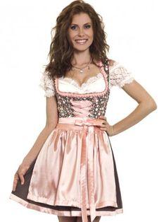 Minidirndl Susanna (braun, hummer, rosa) - MarJo