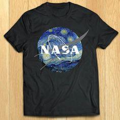 I waaaaant it!! NASA mixed with Van Gogh's Starry Night.