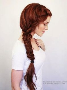 Braided hairstyle for long hair is a popular trend. it is said that, braided hairstyle is a perfect hairstyle for long hair. Today we have collected some top level of braided hairstyles for your favorite and lovely long hair. French Braid Hairstyles, Pretty Hairstyles, Wedding Hairstyles, Hairstyle Ideas, Easy Hairstyles, Hairstyles 2016, Heatless Hairstyles, Casual Hairstyles, Bohemian Hairstyles
