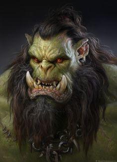 ArtStation - The Art of Warcraft Film - DarkScar , Wei Wang Ogro Orc Warrior, Fantasy Warrior, Fantasy Rpg, Medieval Fantasy, Fantasy World, Warcraft Film, World Of Warcraft Orc, Fantasy Portraits, Character Portraits