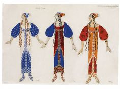 Buy online, view images and see past prices for Probably Léon (Lev Samoylovich or Laib-Chaim Israelevich Rosenberg) Bakst, Léon Bakst, Online Katalog, Ballet Russe, Temple, Fancy Costumes, Masquerade Ball, Eurydice, Gum Arabic, Gouache