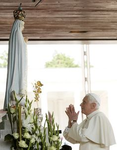 Benedict XVI at Shrine of Fatima May 12, 2010.