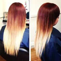 gorgeous straight ombre hair