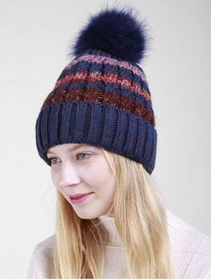 c4707837b947e9 Wholesale 2017 New Fashion Pom Poms Winter Hat for Women Fashion Warm Hats  Knitted Skullies Beanies Girl Cap Brand Female Cap. Art and Music Blogger