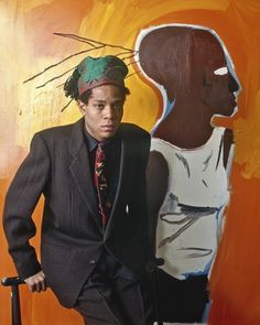 Jean-Michel Basquiat. Photographed for Vogue by Evelyn Hofer.