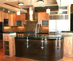 Denveru0027s The Kitchen Showcase: Glass Countertops Add A Modern Feel To Your  Home.