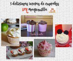 5 deliciosas recetas de cupcakes sin mantequilla | Cocinando para mis cachorritos