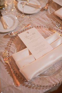 Ultra elegant wedding place setting