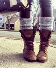 worn combat boots