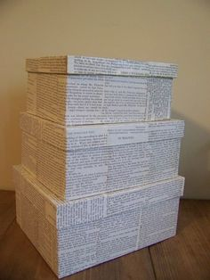 Gift box idea for my newest godson who's due in April 2013. Save the newspaper from the day he's born and cover a gift box with it. Maybe my sis (the godson's mum) can save the box and collect memories from the baby's first year to it?