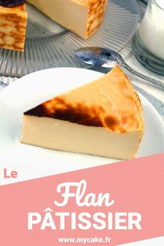 Discover the recipe for custard custard and my tips & advice for making it easy! Healthy Dinner Recipes, Delicious Desserts, Panna Cotta, Bon Dessert, Custard Tart, French Bakery, Custard Recipes, Sweet Pie, Food Illustrations