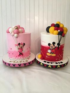 Minnie Mouse Cake Design, Mickey Mouse Cake, Baby Minnie Mouse Cake, Minnie Cupcakes, Mini Mouse Birthday Cake, Mini Mouse Cake, 4th Birthday Cakes, Minnie Mouse Balloons, Balloon Cake