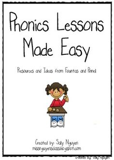 Phonics Lessons Made Easy Kindergarten